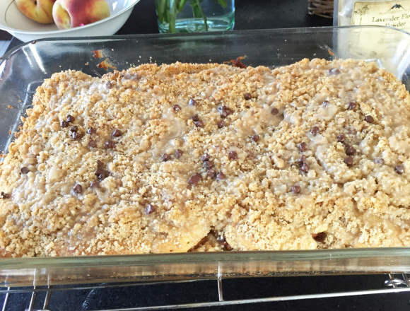 Third Layer — Lavender Peach Coffee Cake