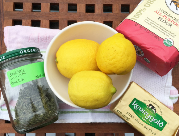Sage and Lemon Shortbread Cookies Ingredients