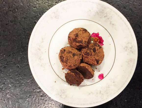 Turmeric Chocolate Nut Truffles