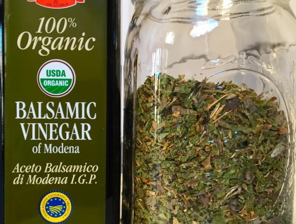 infused balsamic ingredients