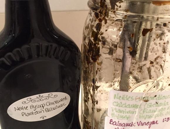 nettle infused balsamic vinegar