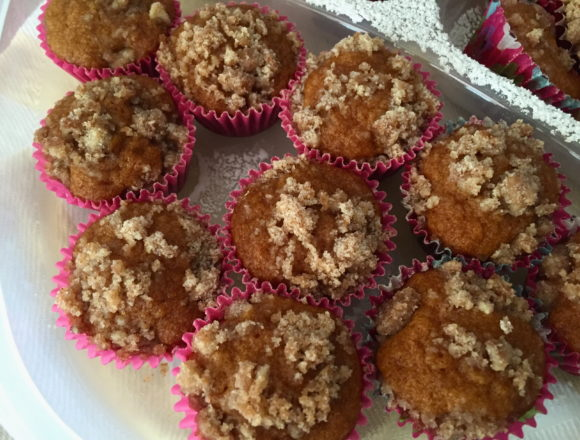 soothing herb blend crumb muffins