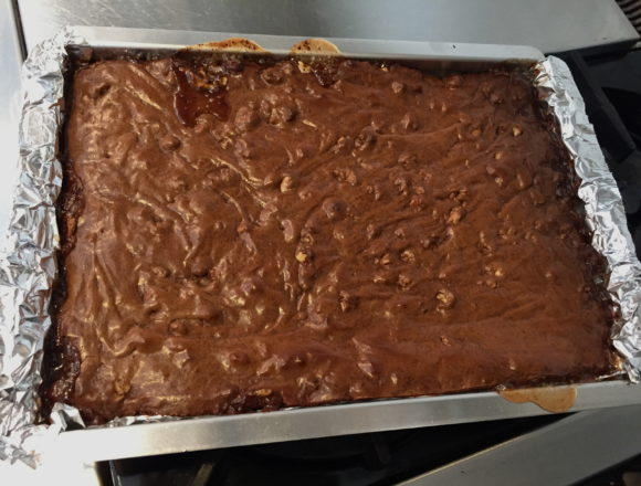 brownies out of the oven