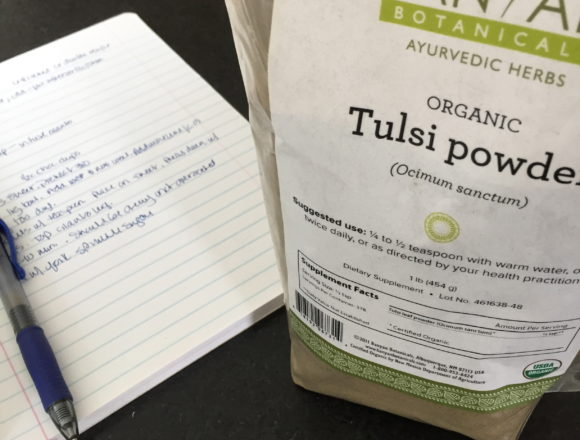 recipe planning with tulsi