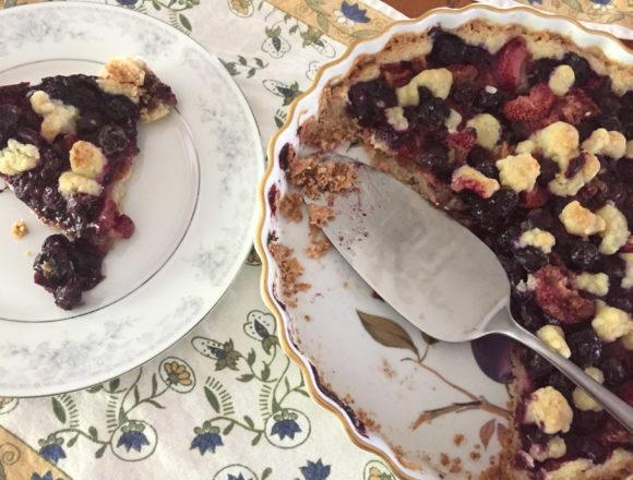 basil berry tart