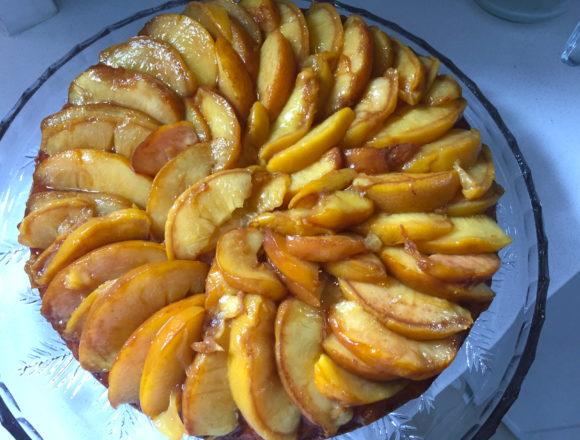 peaches and cream rum cake