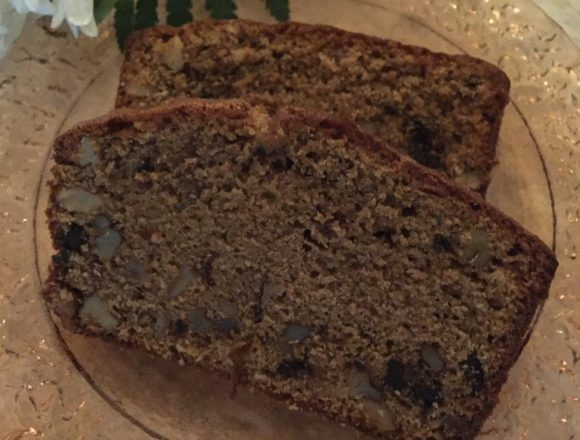 sliced coffee walnut loaf