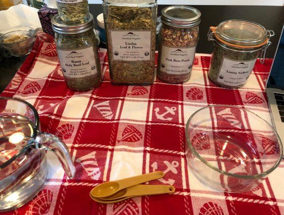 preparing peace and love tea