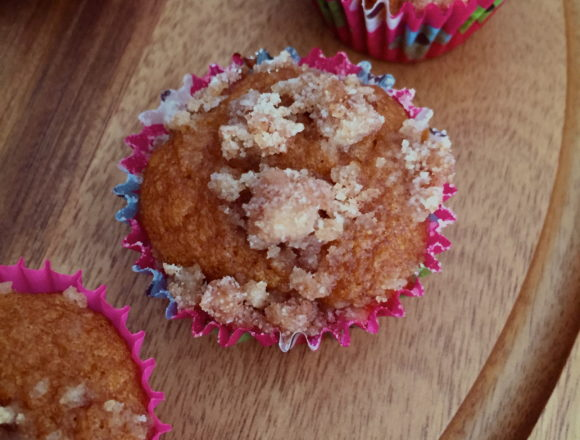 three muffins on display