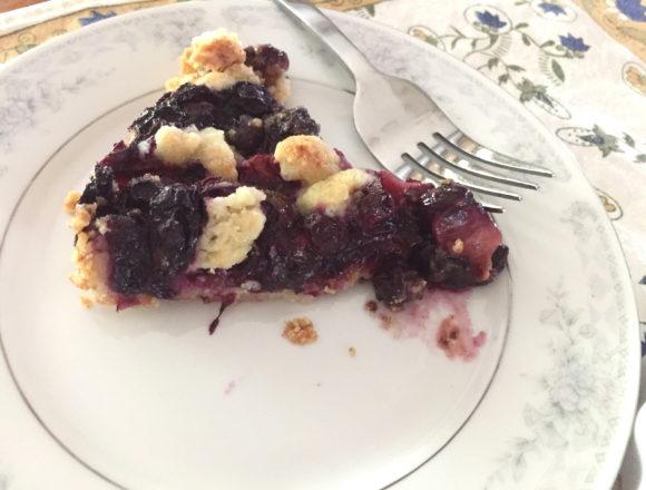 slice of berry tart